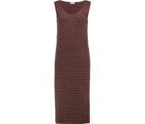 Striped Wool-blend Jersey Dress Schiefer