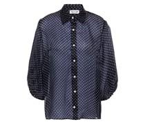 Hemd aus Seidenorganza mit Polka-dots