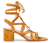 Artemis 60 Lace-up Suede Sandals