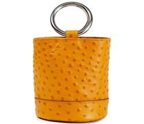 Bonsai Ostrich-effect Leather Bucket Bag