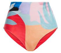 Woman Printed High-rise Bikini Briefs Multicolor