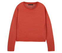 Tamrist Textured-knit Sweater Rot