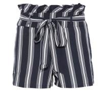 Sarafina striped crepe de chine shorts