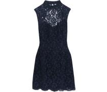 Open-back corded lace mini dress