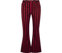 Striped Cotton-blend Satin Fla Pants