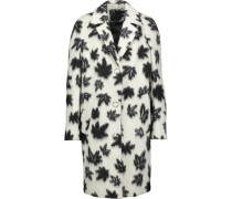 Car intarsia wool-blend coat
