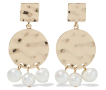 -plated Faux Pearl Earrings