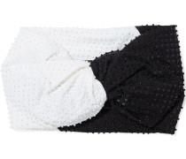 Malia Twisted Embellished Two-tone Jersey Headband