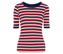 The Dorthea Striped Ribbed-knit T-shirt