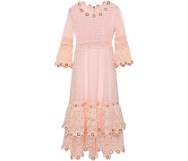 Tiered Embellished Guipure Lace Dress
