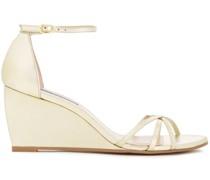 Estarla Metallic Leather Wedge Sandals
