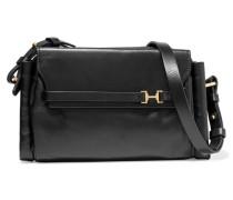 Leather Shoulder Bag Schwarz