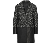 Benmore Wool-blend And Leather Coat Schwarz