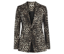 Toby Metallic Cotton-blend Leopard-jacquard Blazer