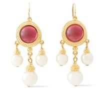 Verete Ohrringe mit Perlen und Steinen