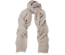 Sandy Modal, Linen And Silk-blend Scarf Grau