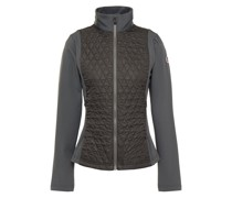 Jersey-paneled Quilted Shell Jacket