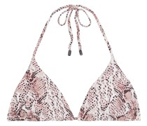 The Alina Snake-print Triangle Bikini Top
