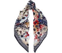 Floral-print Silk-chiffon Scarf Mehrfarbig