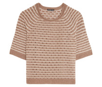 Pointelle-knit Cashmere Sweater Hellbraun