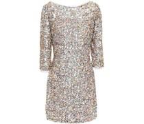 Cutout Sequined Tulle Mini Dress