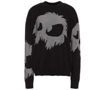 Pullover aus Baumwolle mit Intarsienmuster