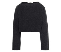 Cropped Sweatshirt aus Einer Baumwoll-kaschmirmischung