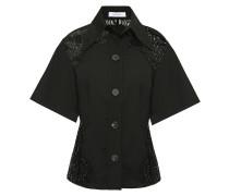 Lace-paneled Woven Shirt