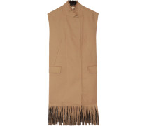 Fringed Wool Vest Braun