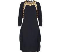 Embellished Crepe Dress Mitternachtsblau