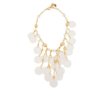 Woman Gold-tone Bead Necklace Gold