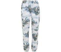 Printed Organic French Cotton-terry Track Pants