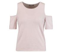 Sophia cold-shoulder cotton and cashmere-blend sweater