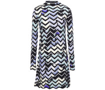 Pointelle-trimmed Intarsia Wool-blend Mini Dress