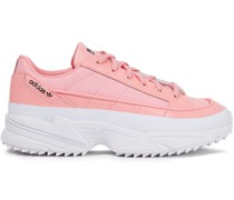 Kiellor Neoprene And Patent-leather Sneakers
