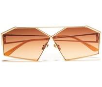 farbene Sonnenbrille mit Sechseckigem Rahmen