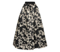 Tina printed satin maxi skirt