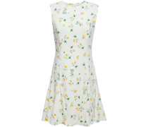 Lana Floral-print Stretch-cady Mini Dress
