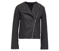 Alto Cropped Leather Biker Jacket