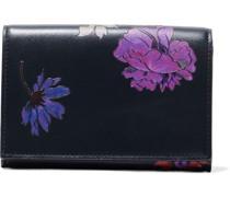 Portemonnaie aus Leder mit Floralem Print