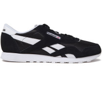 Faux-leather And Suede-trimmed Mesh Sneakers