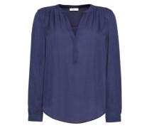 Carita gathered silk blouse