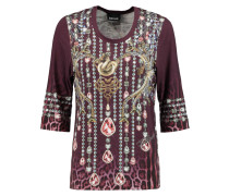 Printed Stretch-jersey Top Bordeaux