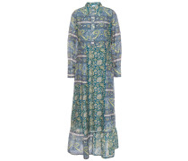 Kheti Printed Cotton And Silk-blend Voile Midi Dress