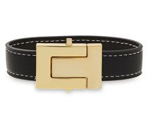 -tone Leather Bracelet