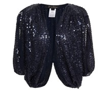 Bead And Sequin-embellished Georgette Bolero