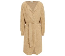 Belted Brushed Knitted Cardigan