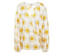 Mannon Wickelbluse aus Glänzendem Seiden-twill mit Floralem Print