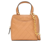 Alexa Mini Quilted Leather Shoulder Bag Sand Size --