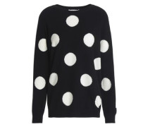 Polka-dot wool and cashmere-blend sweater